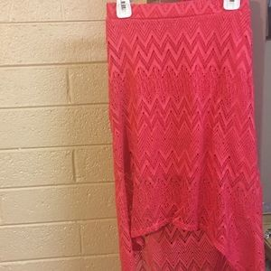 Lilly Bleu Coral Lace Skirt